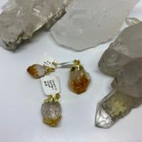 Citrine Gold Pendants