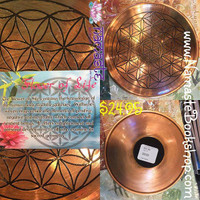 Copper Flower of Life Bowl