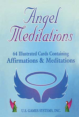 Angel Meditations 64 Ilustrated Cards Containing  Affirmation & Meditation