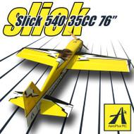 "Aeroplus 76"" Slick 540 35CC- yellow (1BOX)"