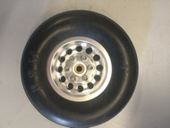 Rubber Wheel with CNC Aluminum Hub (Sold Individually)
