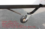 CNC Alloy & CF Tail Wheel Assembly  V1  (50-70cc)