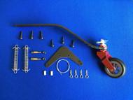 CNC Alloy & CF Tail Wheel Assembly  V3  (85-120cc)