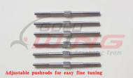 Stainless Steel Adjustable Pushrod  (3 X 125mm)  4PK