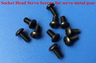 Socket Head Servo Screws   (for Jr 23T and Futaba 25T) 3x6mm