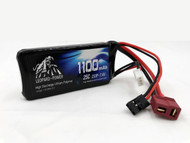 Leopard Power  1100 Mah 2S  25c LiPo Battery