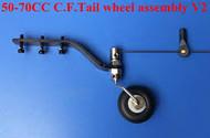 C.F. Tail Wheel Assembly V2 50-70cc
