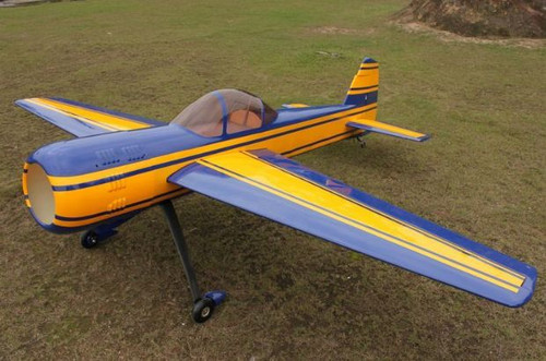 "Aeroplus 73"" Yak 55M 30CC Rudder Only (Blue/Yellow Scheme)"