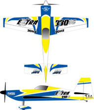 """3DHS Extra 330SC Yellow-Blue 2- 103"""" Extra"""
