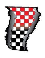 """Checker Fade Rip - 10"""" x 12.3"""""""