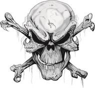 """Skull N Bones Decal- 10""""x9.3"""""""