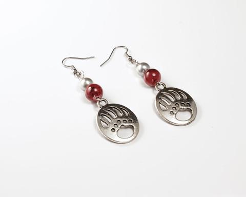 Griz Earring (round bead)