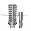 American Dental Implant Corporation (ADI) Internal Hex Compatible 3.5mm Platform Temporary Abutments (Hex/Non-Hex)with Ti Screw (P-35TA-ADI)