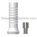 Centerpulse Screw-Vent Spectra Cone Compatible Abutment Plastic Sleeve (Hexed & Non-Hexed) with Ti. screw (P-SCA4.5PS-SD)