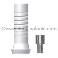 The Spectra System (Screw-Vent®, Micro-Vent™, Bio-Vent®, Core-Vent® Manufactured after 1991)  Spectra Cone Compatible Abutment Plastic Sleeve (Hexed & Non-Hexed) with Ti. screw (P-SCA4.5PS-SP)