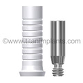 The Spectra System Core-Vent Compatible Plastic Sheath for Titanium Straight Insert with BTO Fixation Screw (P-TSI4PS-SP)