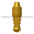 Sterngold (Impla-Med) Compatible Low Margin Conical Standard Abutment Analog (Brass) (IM-45LMSAAB)