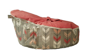 Arrow Sunset Pink Bean Bag