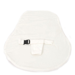 Newborn Velvet Waterproof White Cover with Safety Harness