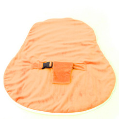 Newborn Velvet Waterproof Orange Cover with Safety Harness