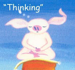Thinking piggy