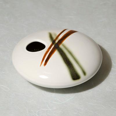 White Bamboo Round Vase