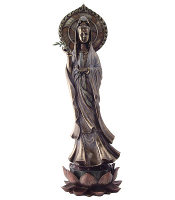 Standing Kuan Yin on Lotus