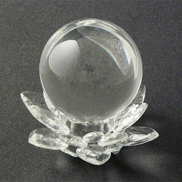 """Crystal Lotus with 3"""" crystal ball"""