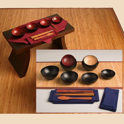 Oryoki Set - Mango Wood