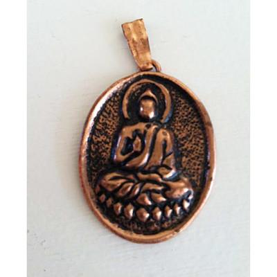 Copper Buddha Pendant