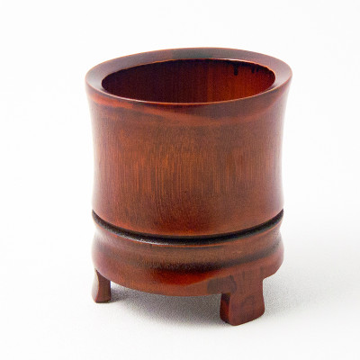 Bamboo Footed Vase