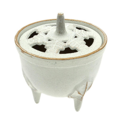 White & Gold Incense Burner