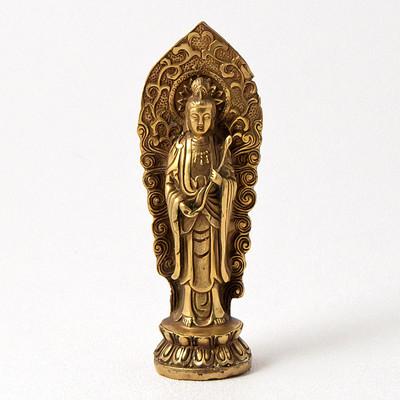 Standing Bronze Kuan Yin