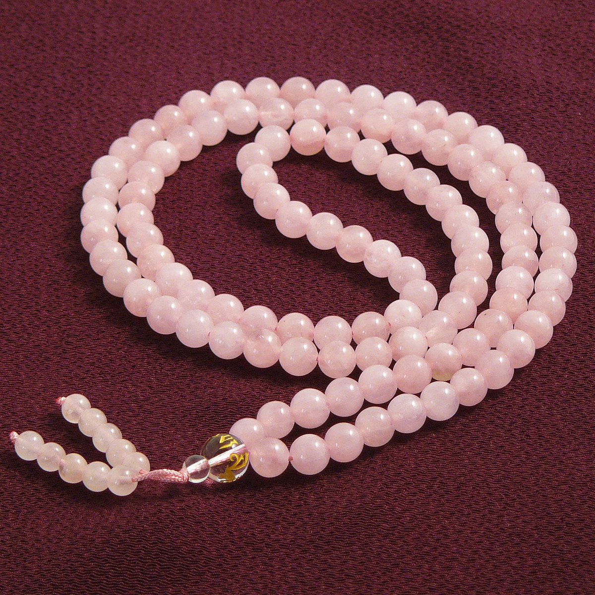 quartz mala buddhist prayer ziji