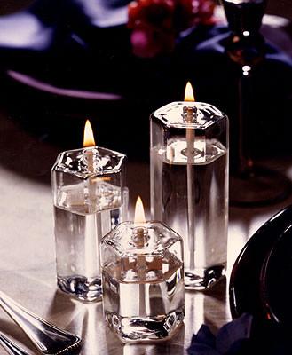 Hexagon Oil Lamp Set of 3