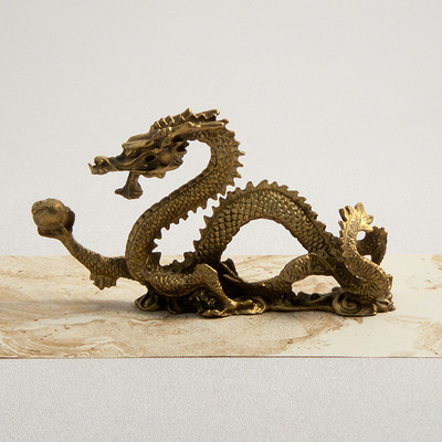 Small Bronze Dragon Figurine