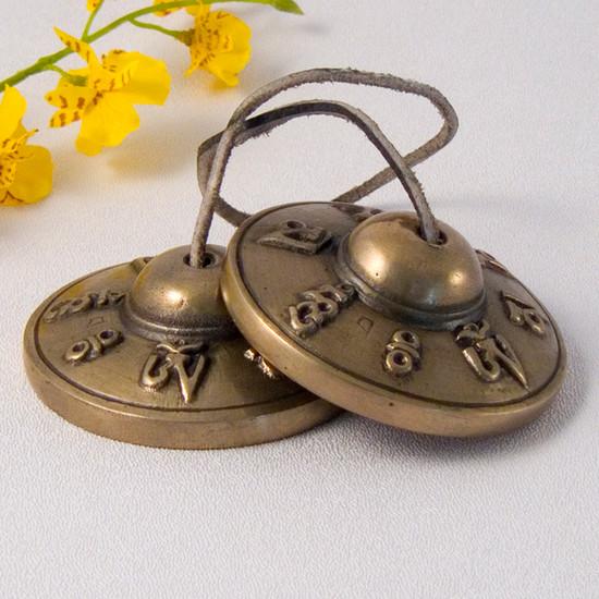 Meditation Altars For Sale: Tibetan Tingsha, Bronze Cymbals