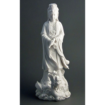 Kuan Yin with Dragon Statue