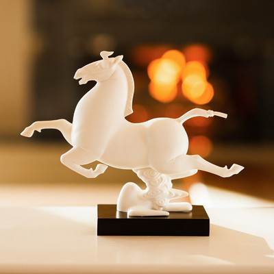 White Windhorse Statue