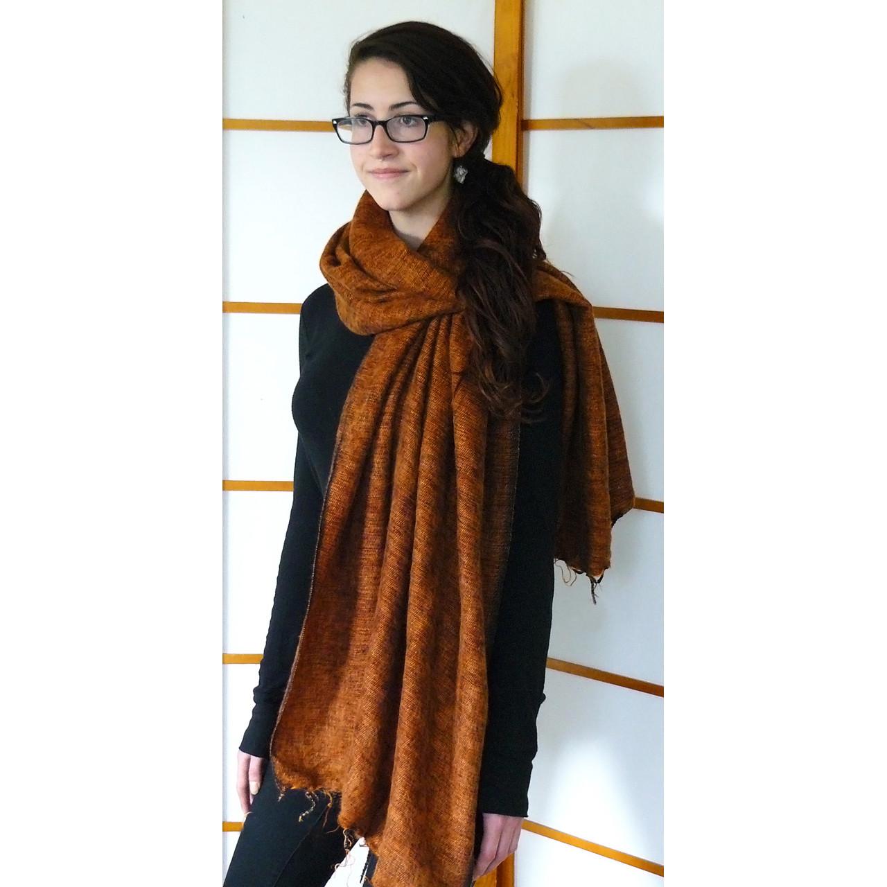 Cinnamon woolen shawl