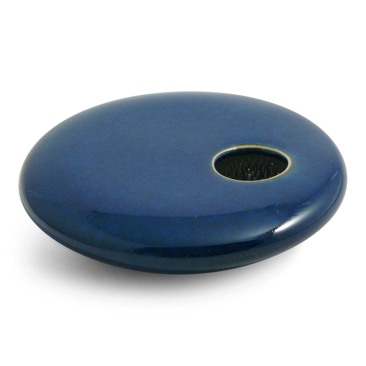Sapphire Round Vase with kenzan