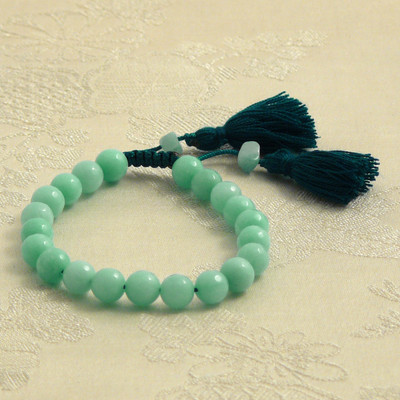 Faceted Amazonite Wrist Mala Bracelet