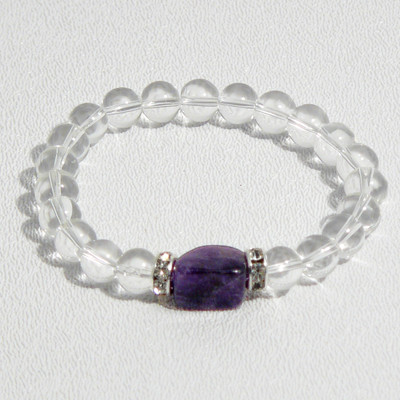 Clear Crystal Quartz Wrist Mala