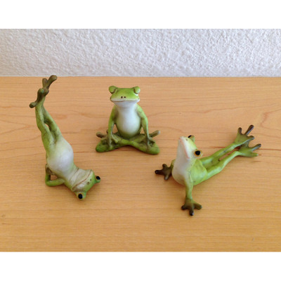 Miniature Yoga Frogs - Set of 3