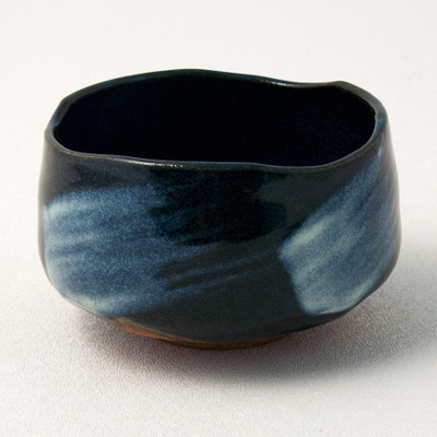 Blue Zen Brush Tea Bowl
