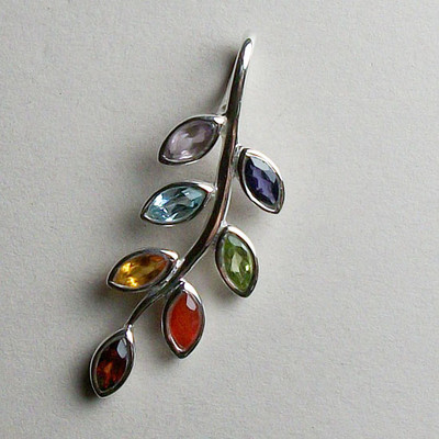Chakra Leaf Pendant