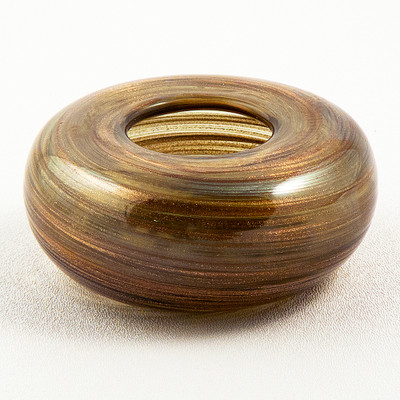 Bronze Swirl Glass Vase