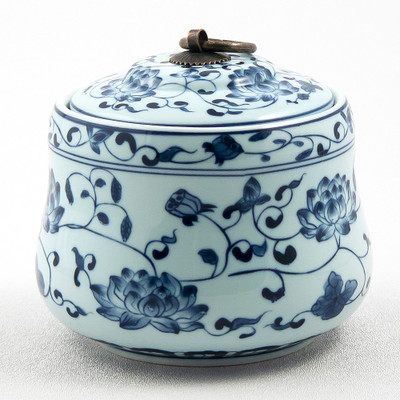Blue Floral Canister