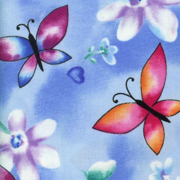 Butterflies fabric close-up