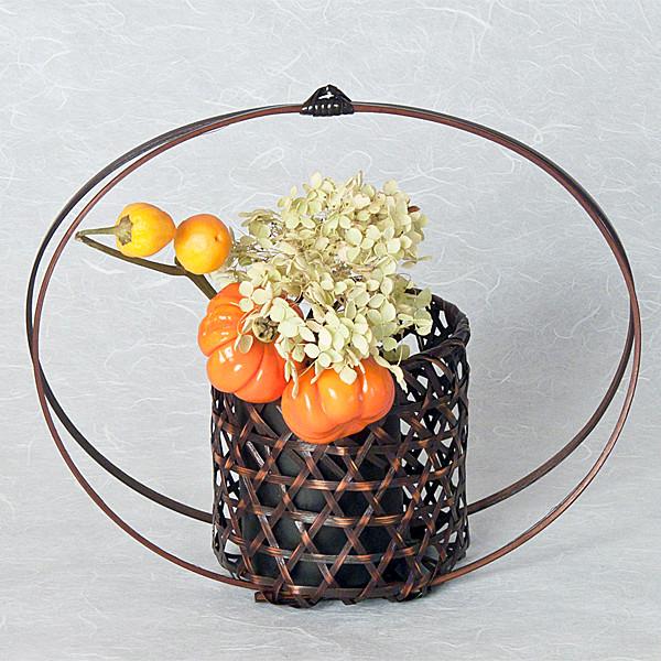 Full Moon Basket with arrangement